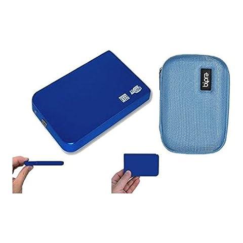 Marque nouveau disque dur externe portable USB 250Go Disque de rangement + étui de protection EVA–bleu