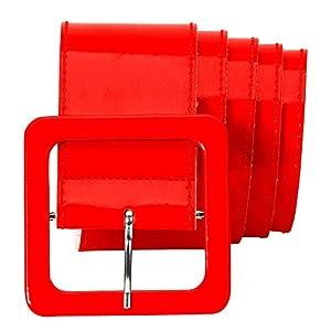 WIDMANN 17395 - Cinturón de vinilo para adultos, mujer, color rojo, talla única