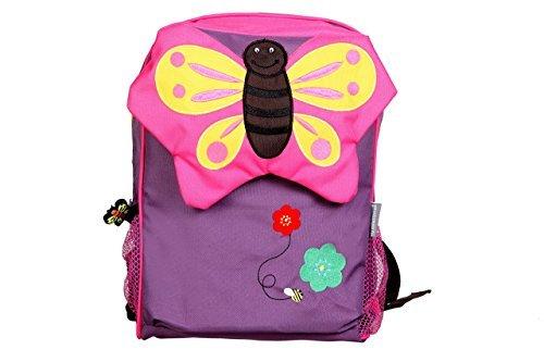 My Milestones PVC-Free Kids/Toddler/ 3D Animal faced Premium Backpack/Preschool Bag – Butterfly