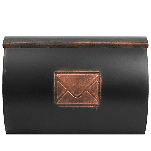 Wand Briefkasten Wandbriefkasten Postkasten Mailbox mit Zeitungsrolle Zeitungsfach Zeitungsbox / Bronze - 3
