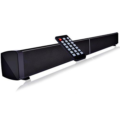 Barra de Sonido con Subwoofers, YOKKAO Altavoz Inalámbrico Bluetooth con Subwoofers Integrados, dispone de Entrada AUX /Coaxial/ Optica/ Tarjetas TF, Alta Calidad de Sonido para PC Sobremesa / Laptop, Smartphone/ Tablets y MP3