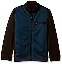 United Colors of Benetton Boys Jacket (16A3PONCK104I901M_Charcoal and Blue_M)