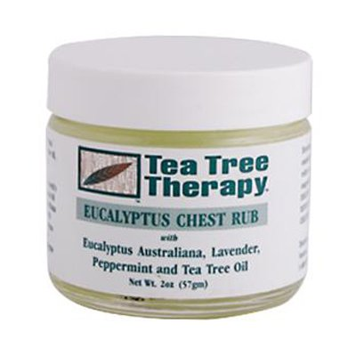Tea Tree Therapy Eucalyptus Chest Rub Eucalyptus Australiana Peppermint lavande et l'huile de th-ier - 2 Oz