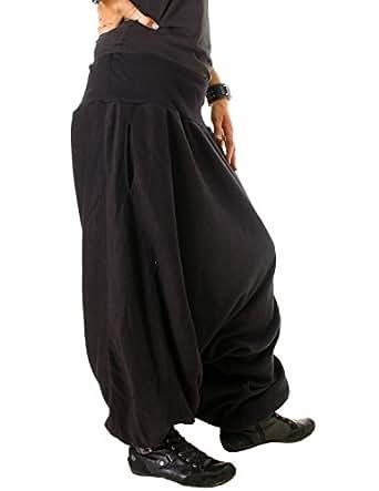 Vishes - Alternative Bekleidung - Weite Thermo Haremshose - unisex schwarz 38 bis 44