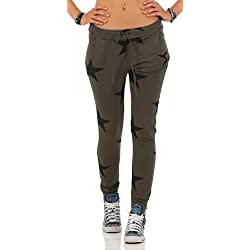 Mr. Shine Damen Sweatpants Baggy Hose Boyfriendhose Freizeithose Jogginghose Fitness Sporthose Yogapants Jogger Loose Fit Big Star S-XXXL (XXL, Armee Grün)