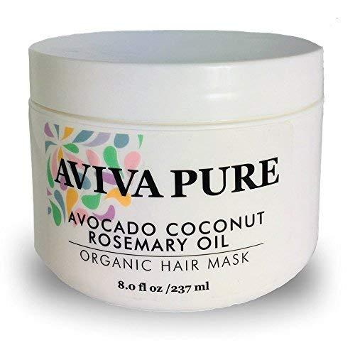 AVIVA PURE Mascarilla coco orgánico aceite de aguacate para cabello seco y dañado y el crecimiento del cabello. Tratamiento de la mascarilla del pelo.