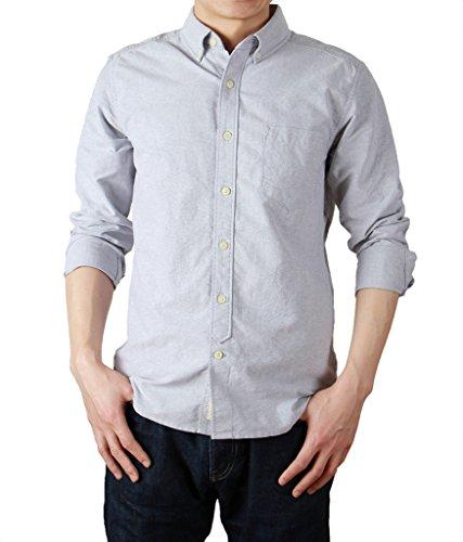 bii-free-herren-blusen-freizeit-hemd-einfarbig-blau-hellblau-gr-small-grau