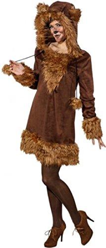 O9906-42-44 Sexy Bär Bären Kleid Kostüm braun - Giraffe Kostüm König Der Löwen