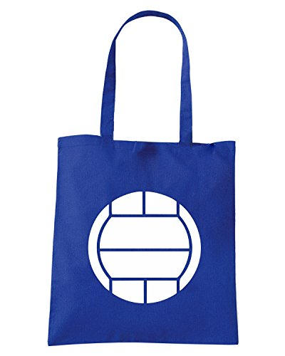 T-Shirtshock - Borsa Shopping SP0139 Volleyball Ball Maglietta Blu Royal