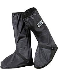 GESIMEI Impermeable Cubrecalzado PVC Cubiertas de botas de Lluvia al Aire Libre Antideslizantes Reutilizables Ciclismo Cubiertas de Zapatos Mujer Hombre