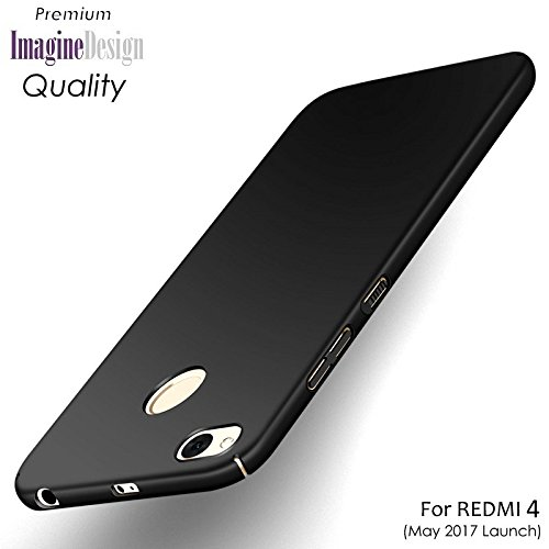 WOW Imagine All Sides Protection '360 Degree' Sleek Rubberised Matte Hard Case Back Cover For XIAOMI MI REDMI 4 ( MAY 2017 LAUNCH ) - Pitch Black