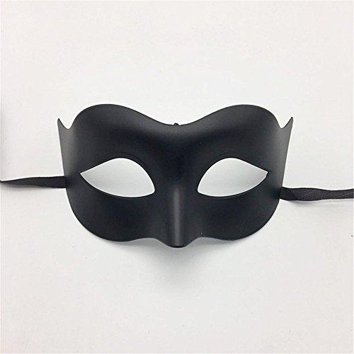 Masken Gesichtsmaske Gesichtsschutz Domino falsche Front Glamour-Männer Maske Halloween Make-up Prom Maske Damen Volltonfarbe Minimalist Half Face Zorro Maske Maske Schwarz
