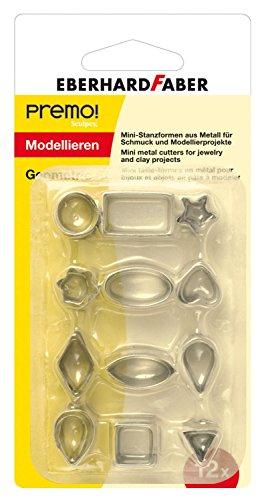 Eberhard Faber 571307 - Stanzformen aus Metall, GeomeTrie, 12 teilig Preisvergleich