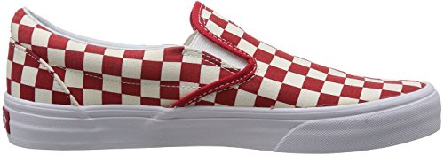 Vans U Classic Slip-on, Baskets mode mixte adulte rouge beige à carreaux