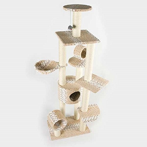 purrshire Leopard Chic Tower Cat Activity Centre (Chic Leopard)