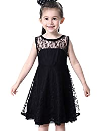 Happy Cherry - Vestido de Encaje Tul para Niñas de 4-11 años Vestido de Verano Infantil para Fiesta Boda Ceremonia…