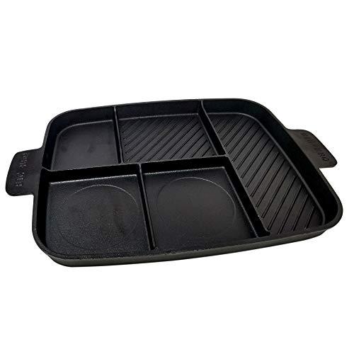 ToCis Big BBQ Poêle Multi-Barbecue 5 en 1 en Fonte | Poêle à Steak et Four | 45 x 30 x 3 cm