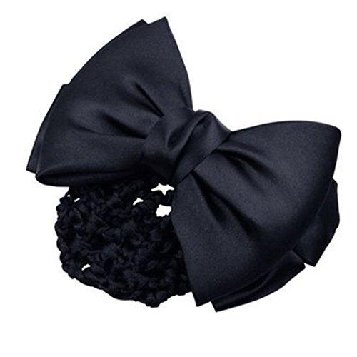 3pcs Bow Tie barette cheveux clip Snood Net coiffure pour les femmes, W