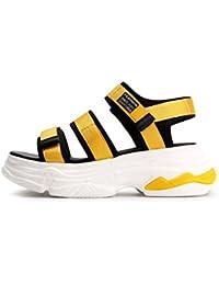 NBWE Zapatillas de Sandalias de Velcro Multicolor para Mujeres veraniegas Abiertos con los Dedos Abiertos por