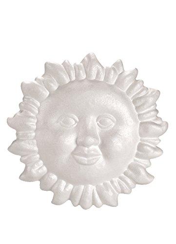 GLOREX Styropor Sonne, Weiß, 10 x 13 x 28 cm