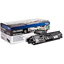 Brother TN-326BK Toner Cartridge, High Yield, Black, Brother Genuine Supplies