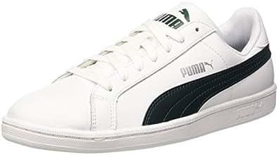 Puma Smash Leather, Tennis Adulte Mixte, Bianco (White/Ponderosa Pine), 36 EU