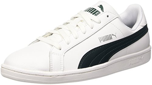 Puma Smash L, Scarpe da Ginnastica Basse Unisex Adulto, Bianco (White/Ponderosa Pine), 44.5 EU