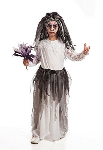 Imagen de the best costume  disfraz infantil de novia cadaver para halloween niños 4 años
