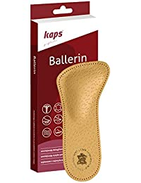 Orthotic 3/4 Leather Insoles with Metatarsal Arch Support Prevent Forefoot Pain, Kaps Ballerin, All Sizes (Women / 8 US / 39 EUR / 6 UK) by Kaps