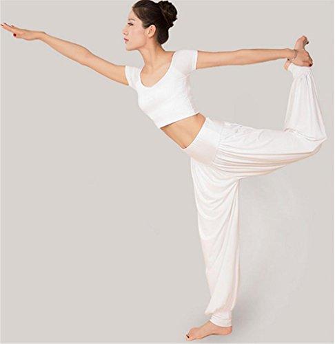 Vêtements d'entraînement de yoga pour femme / costume de danse White
