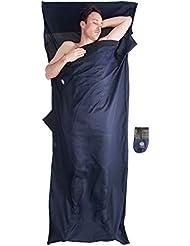 Bahidora Hüttenschlafsack aus ägyptischer Baumwolle, Schlafsack Inlett Baumwolle, Schlafsack Inlay Baumwolle, Reiseschlafsack. Ideal für Hostels, Berghütten und Jugendherbergen