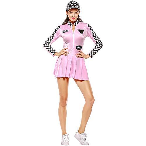 ZQ Damen-Sportler-Baseballuniform, Spielanzug Cheerleader-Rennanzug Halloween/Carnival Festival,Pink