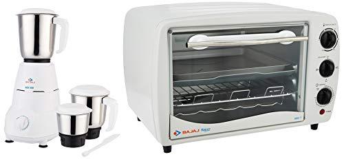 Bajaj Rex 500-Watt Mixer Grinder + Bajaj Majesty 1603 T 16-Litre Oven Toaster Grill (White)