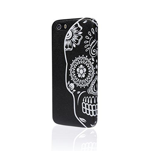Aiino Coque de Protection Coque Case Tattoo Skull Accessoire pour Smartphone Apple iPhone 6 noir