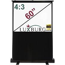 Luxburg, Uk-Ps-Fl-12X09-Mw-01, Full Hd 3D Schermo Da Proiezione Portatile Manuale Con Base D'Appoggio, Dimensioni Schermo 60 Pollici
