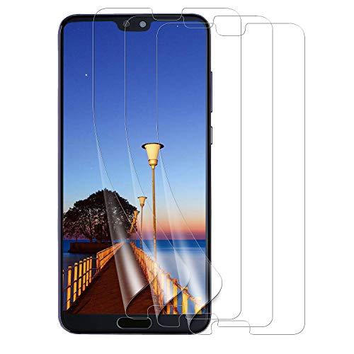 Bigmeda Schutzfolie für Huawei P20, Ultra Klar, Blasenfreie, Einfache Installation, [3 Stück] Huawei P20 Displayschutzfolie Displayschutz Display Folie [Nicht Panzerglas] -