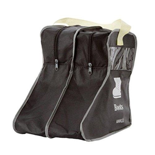 Dexinx Stiefeltasche Stiefelbeutel Schuhe Stiefel Lagerung Organizer Tasche Tragbarer Staubbeutel Tragetasche Stiefel Displayschutzfolie (Schwarz, 24*28*29cm)