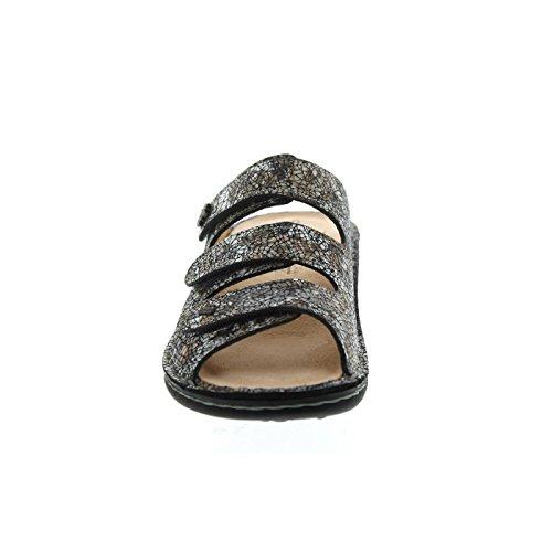 Finn Comfort 82564-555222, Mules Pour Femme Oro (Braun kombi.)