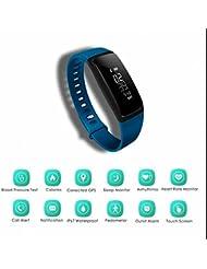 Smartwatch d'exercices pour homme et femme, le fitness Smartwach Smartwatch pour Apple Samsung HTC iPhone, GPS Sport Fitness montre intelligente, course à pied podomètre montre intelligente