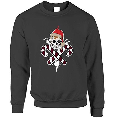 Weihnachten Unisex-Pullover Scary Weihnachten Halloween-Schädel und Knochen-Piraten-Weihnachts (Halloween-bäume Scary)