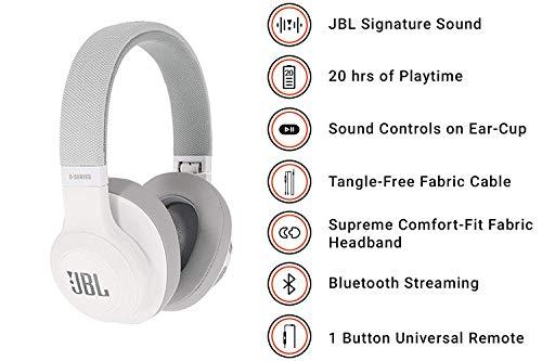 JBL E55BT Cuffie Wireless Sovraurali con Funzione Multipoint Cuffie  Circumaurali Bluetooth con Design Ergonomico fino a 20 h di Autonomia d2b055201429