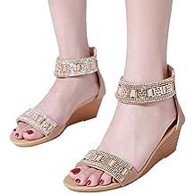 Sandalias Mujer Verano ❤ABsoar Alpargatas Plataforma Cuña Sandalias Bohemias Planas Mares Romanas Playa Gladiador Tacon