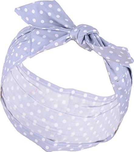 Unbekannt Retro Anna 50s Polka Dots Punkte Haarband gerafft Rockabilly Geraffte Dot