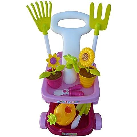 A185 18 uds. Conjunto de juguete cuidado jardín para los pequeños jardineros, por lo que puede ser divertido jardinería