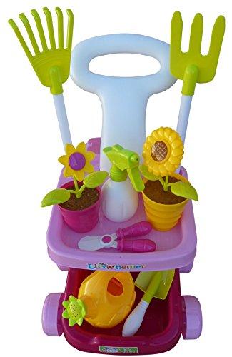 A185 18 tlg. Spielzeug Garten-Pflege-Set für die kleinen Hobbygärtner, so kann Gartenarbeit auch Spaß machen