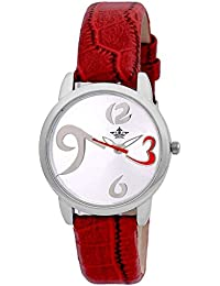 Swisso SWS-1004 Red-Wht Modish Series Analog Watch - For Women