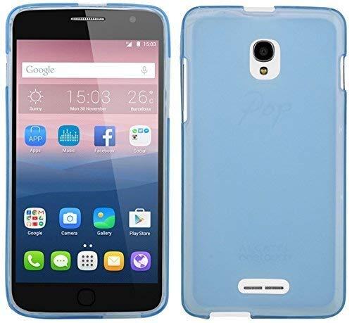 ENERGMiX TPU SchutzHülle kompatibel mit ALCATEL POP Star (5022D) Silikon Hülle Bumper Zubehör Silikontasche in Blau