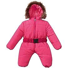 BHYDRY Invierno Infantil Bebé Chico del Mameluco del Mono Chaqueta con Capucha Escudo Caliente Grueso Conjunto