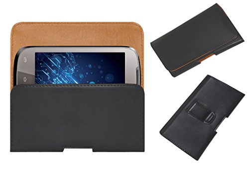 Acm Belt Holster Leather Case For Lava Xolo A500 Mobile Cover Holder Clip Magnetic Closure Black  available at amazon for Rs.329
