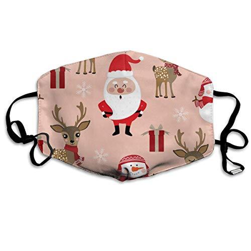 Quecci Baumwolle Masken,Maske Cute-Christmas-Holidays-Cartoon Mouth Mask Unisex Printed Fashion Face Anti dust Masks -